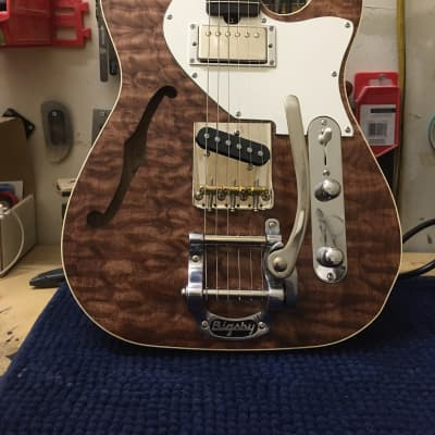 Brown Bear Guitars Thinline Tele w/ Bigsby and McNelly pickups for sale