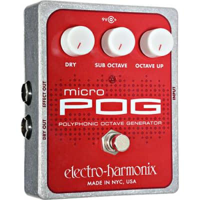 Electro Harmonix Micro POG Polyphonic Octave Generator Pedal for sale