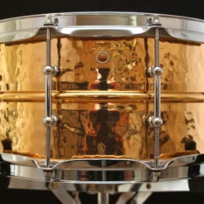 "Ludwig LB552KT Hammered Bronze 6.5x14"" Snare Drum with Tube Lugs"