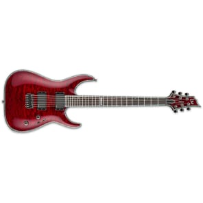 ESP LTD H-1000 QM NT See Thru Black Cherry STBC NEW Electric Guitar + Free Gig Bag H1000 H-1000QM for sale