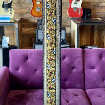 """Paul Reed Smith Deluxe 2"""" Retro Guitar Strap - Red/White"""