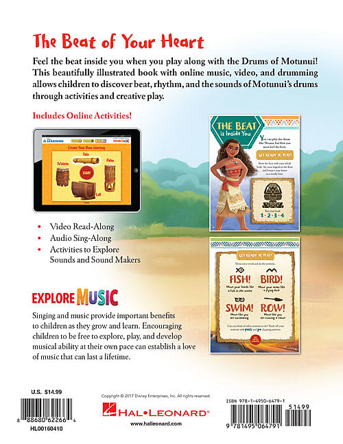 Hal Leonard Moana – The Beat of Your Heart A Musical Exploration Activity  Book