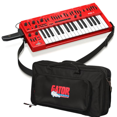 Behringer MS-1 Analog Synthesizer - Red - Carry Bag Kit
