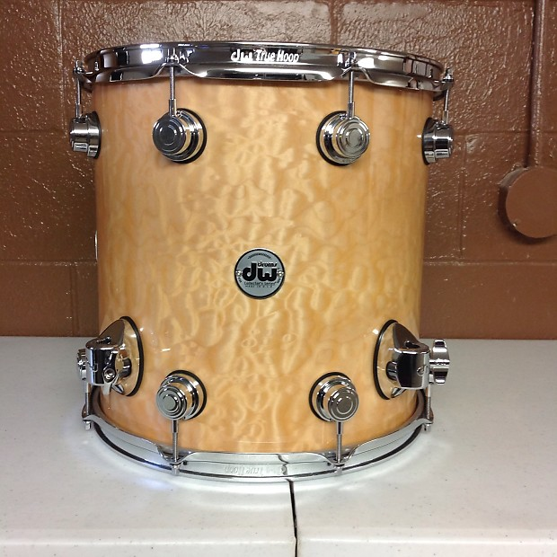 Dw Collectors Series Floor Tom Exotic Quilted Maple Reverb