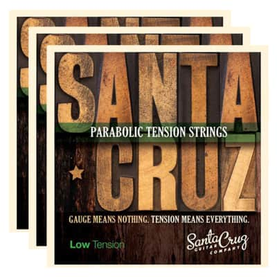 Santa Cruz Parabolic Tension Acoustic Guitar Strings Low Ten (3 Pack Bundle) image