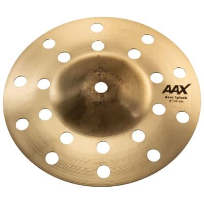 """Sabian 208XAC 8"""" AAX Aero Splash Brilliant Cymbal"""