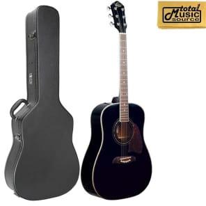 546f4bdad1d Oscar Schmidt OG2 Acoustic Dreadnought Guitar w/Hard Case, Black, OG2B CASE