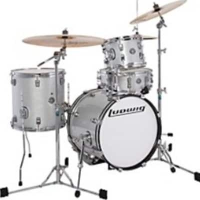 Used Ludwig Accent Drumset 4 pc Shell Pack Silver Consignment