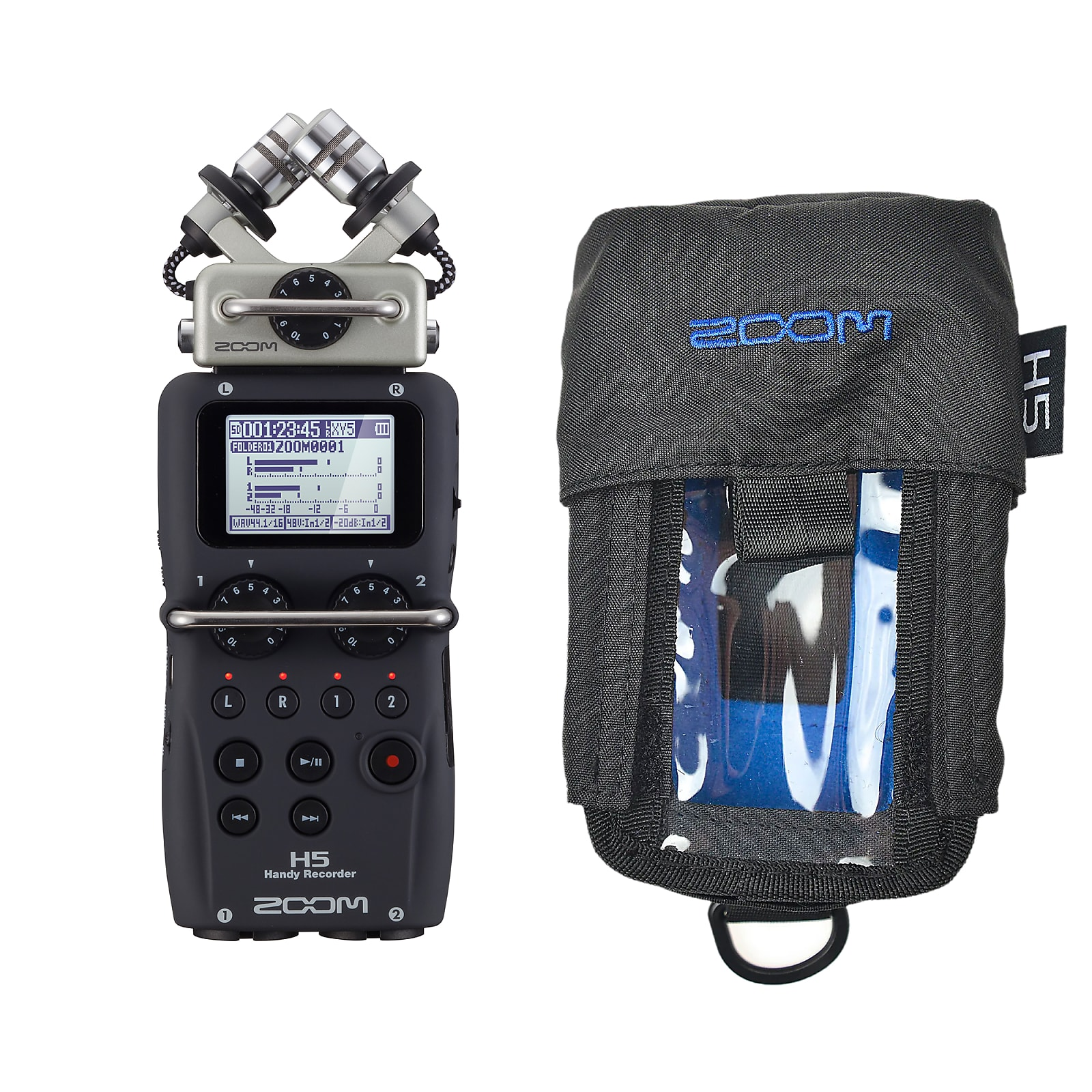 Zoom H5 Handy Recorder and Protective Case Bundle