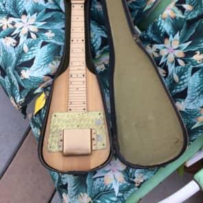 Rare Vintage USA Made 1950's Alamo Lap Steel Guitar Project W/ Original Case for sale