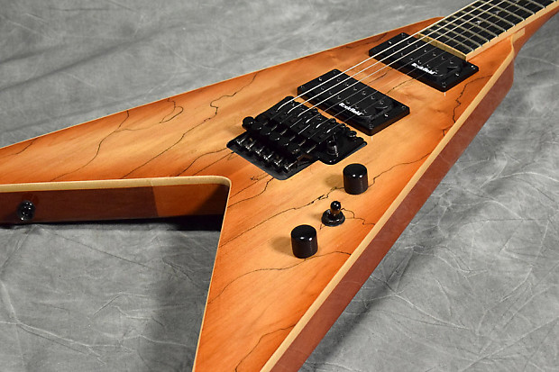 b c rich pro jr v exotic spalted maple reverb. Black Bedroom Furniture Sets. Home Design Ideas