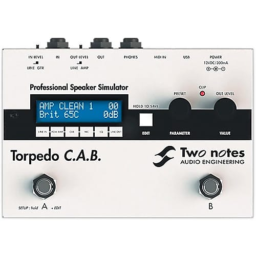 Two Notes TORPEDO C A B  Digital Impulse-Response Loading Stompbox