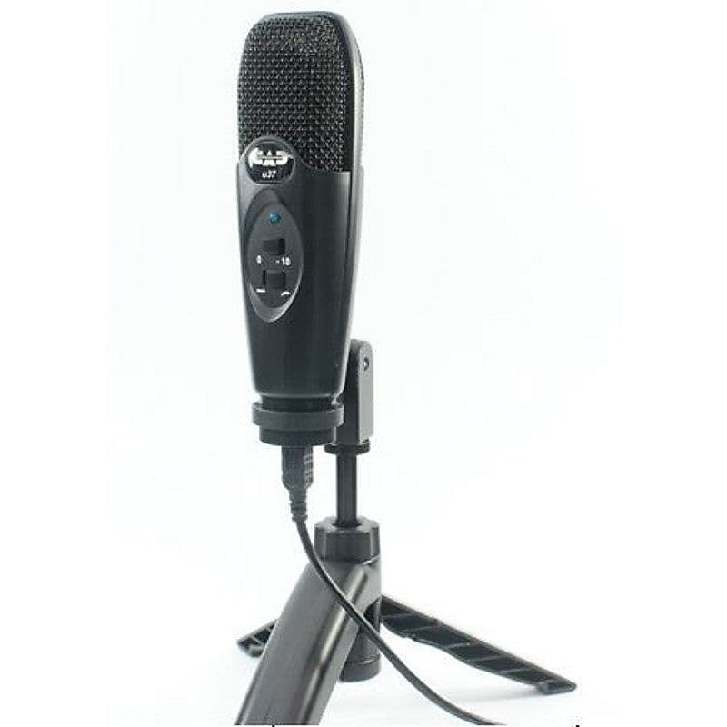 cad u37 usb studio condenser recording microphone champagne reverb. Black Bedroom Furniture Sets. Home Design Ideas