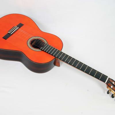 Manuel Raimundo #145 Negra Orange Top Flamenco Guitar With Hardshell Case @ LA Guitar Sales for sale