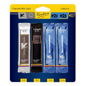 Vandoren CRMIXBB35 Bb Clarinet Mix Card Reed Variety Pack - Strength 3.5