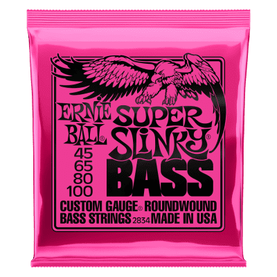 Ernie Ball P02834 Super Slinky Nickel Wound Electric Bass Strings - 45-100 Gauge