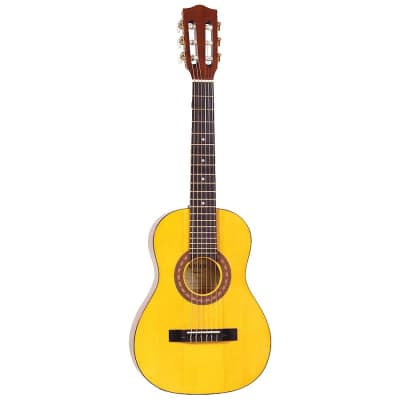 Amigo AM15 Classical 1/2 Size Nylon 6-String Acoustic Guitar - Natural - (B-Stock) for sale