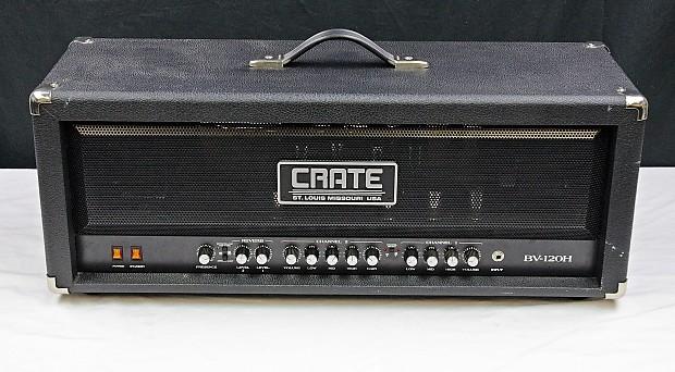 Crate BV120HB Black, Blue Voodoo Guitar Amplifier Head Used, #42500