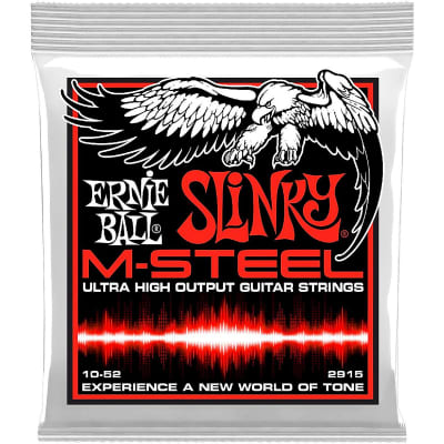 Ernie Ball 2915 M-steel Skinny Top Heavy Bottom Electric Guitar Strings