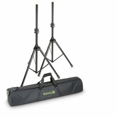 Gravity GSS5211BSET1 - Set Of 2 Speaker Stands With Bag