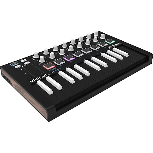 Arturia MiniLab Mk II Inverted Portable USB-MIDI Controller (Black)