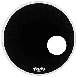 "Evans 22"" EQ3 Resonant Black Black"