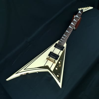 Jackson RR5 Randy Rhoads Pro  2004 Ivory with Black Pinstripes Made In Japan with Original Jackson/SKB Hardcase for sale