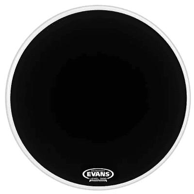 "Evans BD22RB-NP EQ3 Resonant Black Bass Drum Head with No Port - 22"""