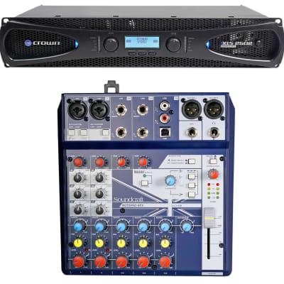 Crown Pro XLS2502 XLS 2502 2400w DJ/PA Power Amplifier w/ DSP+Soundcraft Mixer