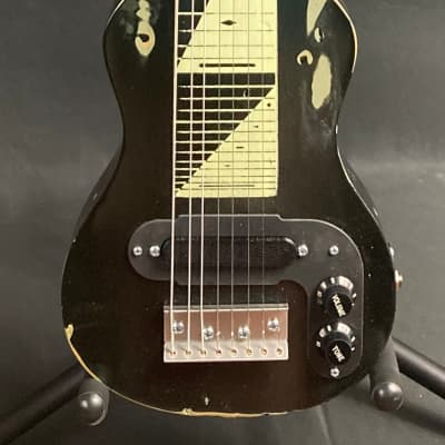 Morrell USA PRO 8 Lap Steel Guitar 8-String Maple Body Vintage Black Relic Finish for sale