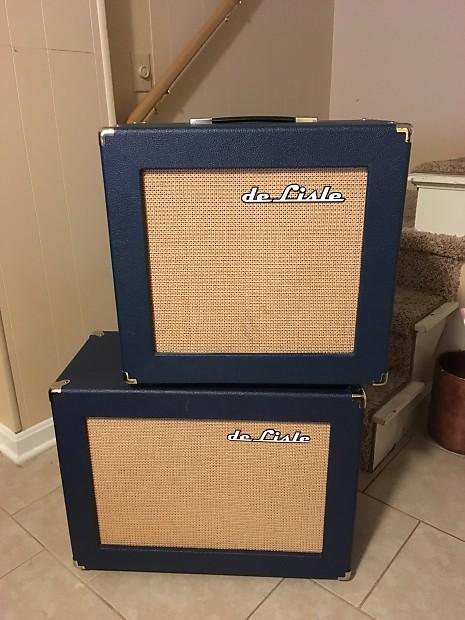 De Lisle Custom Guitar Cab Navy Blue 115 1x15 Small Boutique | Reverb