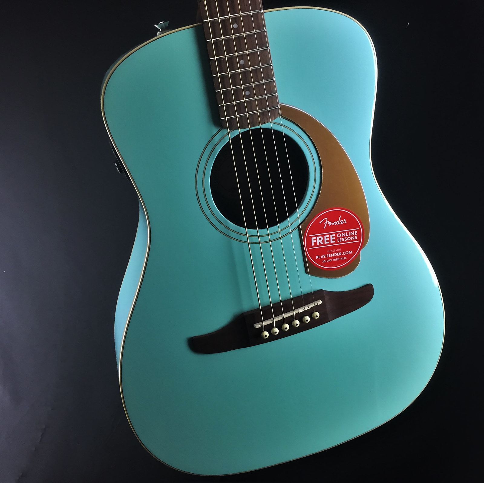 Fender California Series Malibu Player Acoustic Electric Guitar Aqua