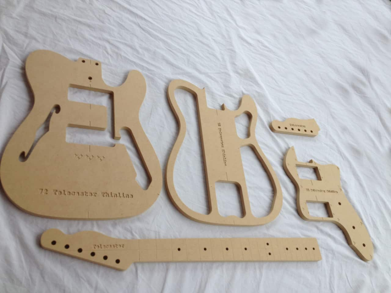 router templates for signs - 72 thinline guitar router template set 1 2 mdf cnc