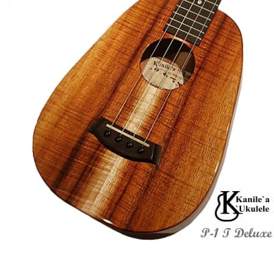 Kanile'a P-1 T DLX Deluxe Curly Pineapple shaped Tenor ukulele #24272