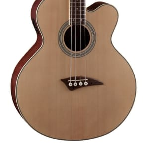 Dean 4 String Acoustic/Electric Bass, Dean Electronics, Spruce Top/Natural, EABC for sale