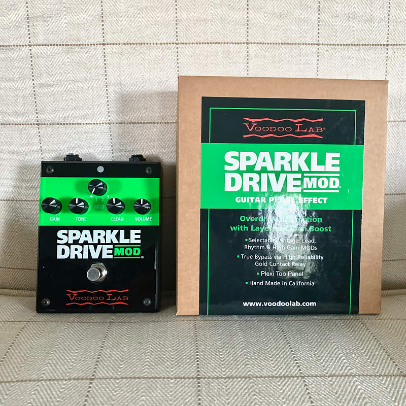 voodoo lab sparkle drive mod overdrive pedal reverb. Black Bedroom Furniture Sets. Home Design Ideas