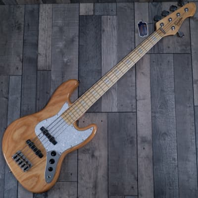 Revelation RBJ 67 Deluxe 5 Bass Guitar, Natural for sale
