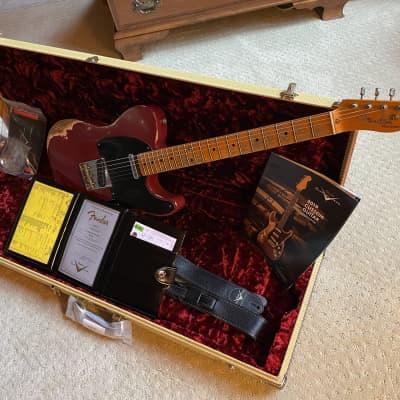 Fender 52 Telecaster Custom Shop Heavy Relic Cimarron Red 2019, Lightweight 6.5 Pounds for sale