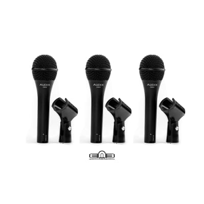 Audix OM2 Trio - Includes 3 Professional Hypercardioid Dynamic Vocal Microphones