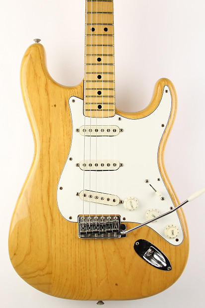fender stratocaster maple natural 1975 reverb
