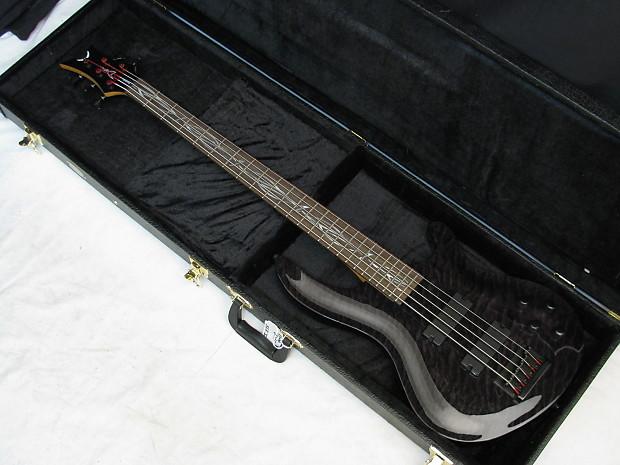 DEAN Vendetta 5-string B guitar Trans Black NEW w/ HARD SHELL CASE on