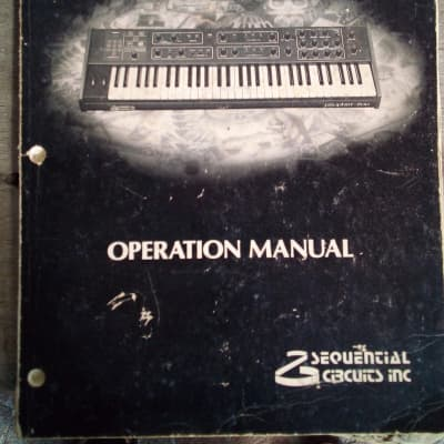 Sequential Circuits Prophet 600 Original Owners Manual