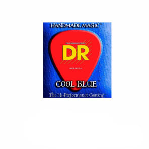 DR Strings Cool Blue Coated Electric Strings - Medium for sale