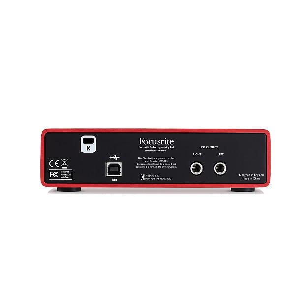 focusrite scarlett 2i2 2nd gen usb audio interface with reverb. Black Bedroom Furniture Sets. Home Design Ideas
