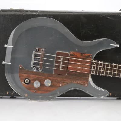 Ampeg Dan Armstrong Lucite Electric Bass Guitar Owned By David Roback #44585