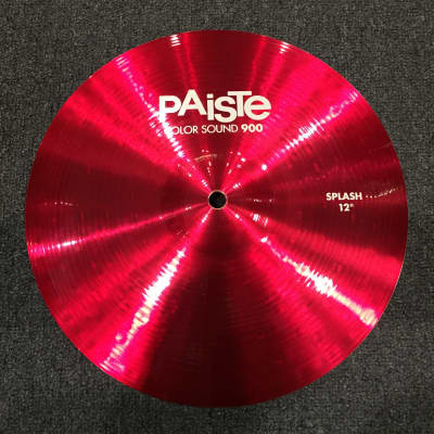 "Paiste 12"" Color Sound 900 Series Splash Cymbal in Red"