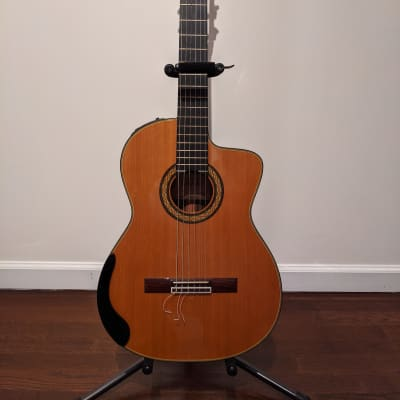 Takamine TH5C Hirade Series Classical Nylon String Concert Cutaway Acoustic/Electric Guitar Natural for sale