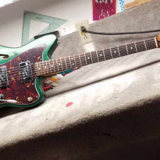 "*Soundclip* 2016 Jazzmaster Semi-Hollow (Thinline) + WRHB's,  Sherwood Green Metallic, ""Partscaster"" image"
