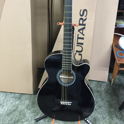 MAIN STREET MAS38 Black Acoustic GUITAR- LOCAL PICKUP ONLY for sale