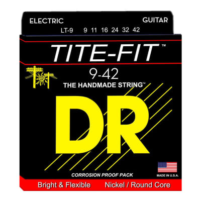 DR Strings LT-9 Tite-Fit Light Electric Guitar Strings
